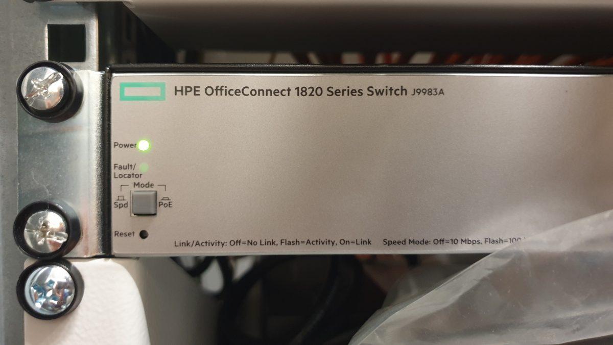 Kein Werksreset bei Switch HPE OfficeConnect Switch 1820 (J9983A) möglich